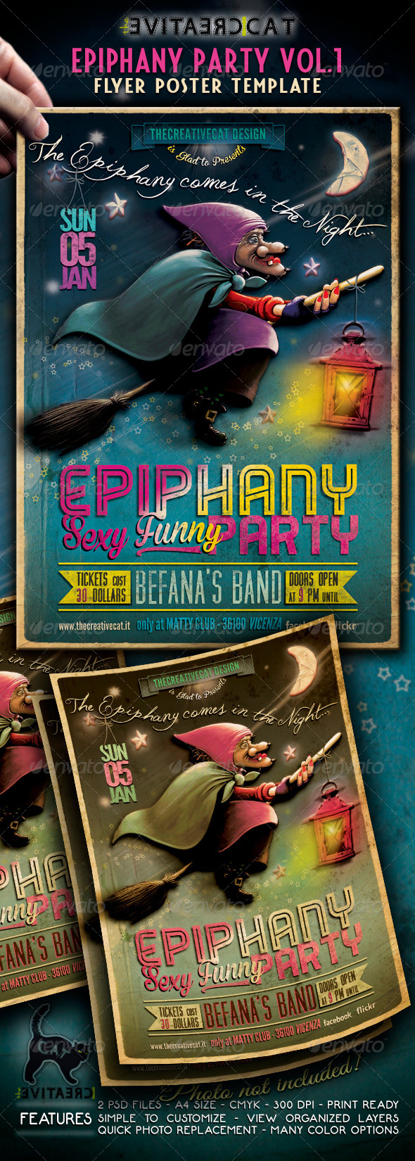 Epiphany Party Flyer/Poster Vol. 1 - Events Flyers