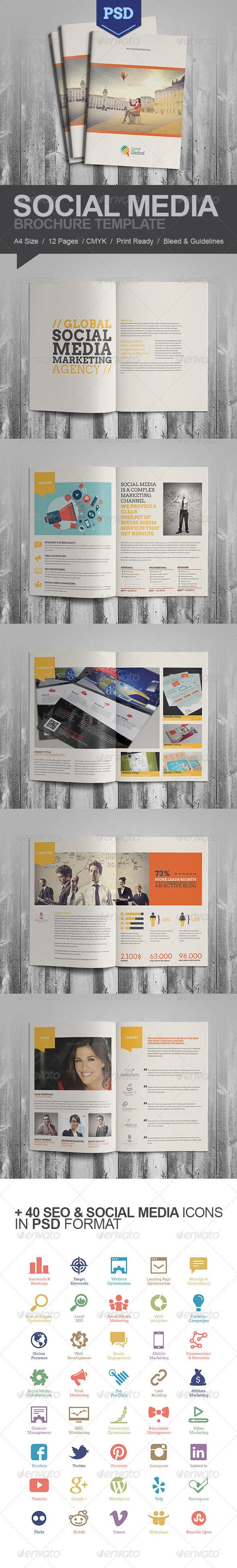 Social Media A4 Brochure - Portfolio Brochures