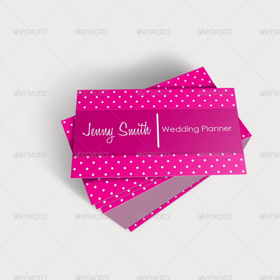 Wedding Planner Business Cards 2 by jahirbaylon | GraphicRiver