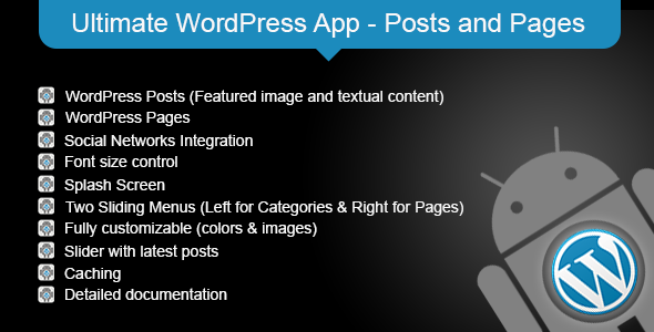 Ultimate WordPress App - Posts and Pages - CodeCanyon Item for Sale
