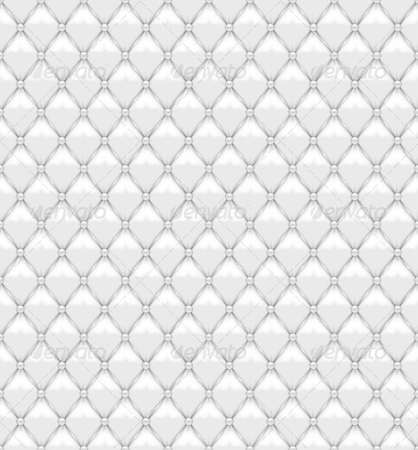 Seamless White Leather Upholstery - Backgrounds Decorative