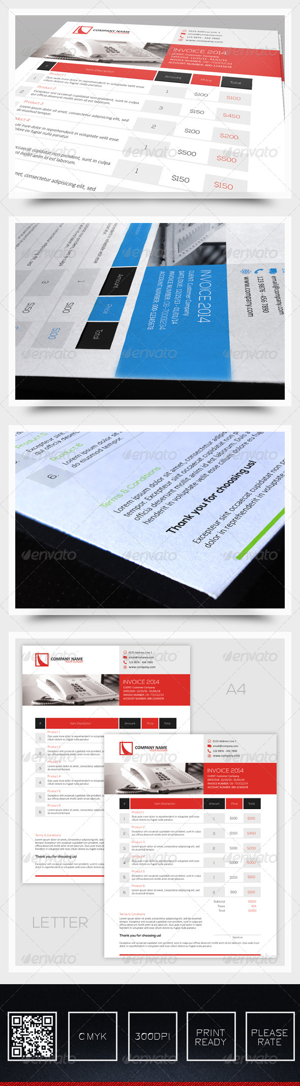 Invoice Vol1 - Proposals & Invoices Stationery