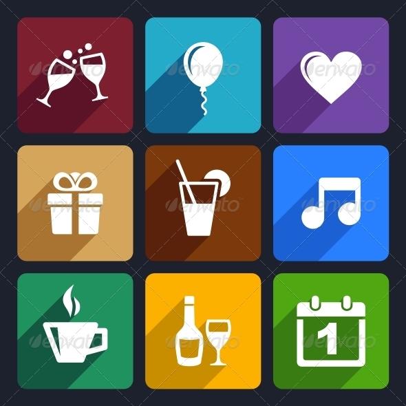 Party and Celebration Icons Set 29 - Seasonal Icons