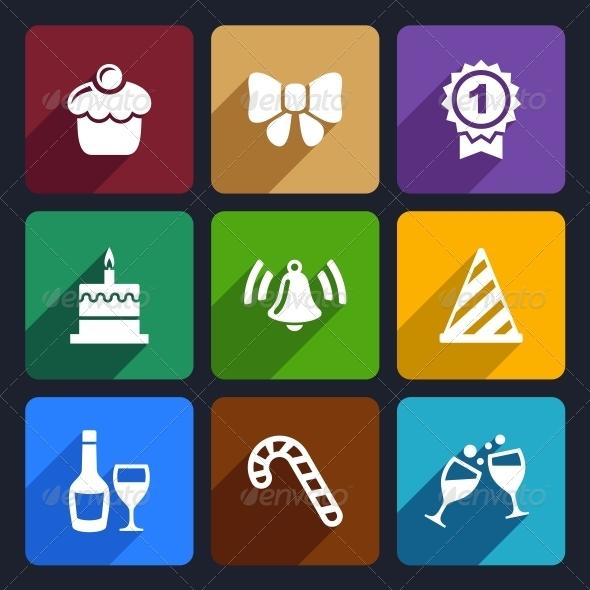 Party and Celebration Icons Set 30 - Seasonal Icons
