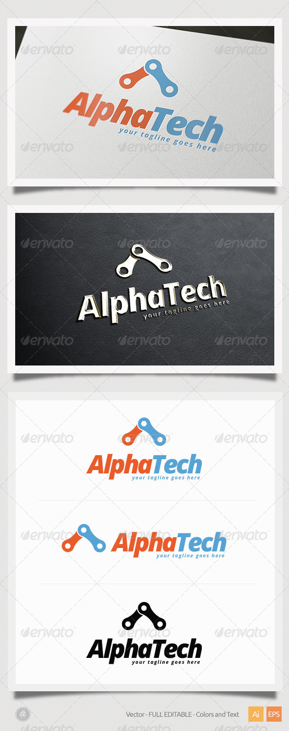 Alpha Tech Logo - Symbols Logo Templates