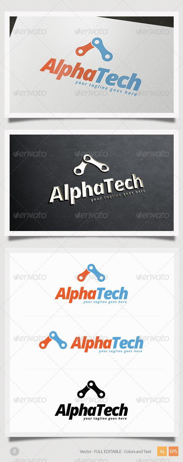 Alpha Tech Logo - Symbols Logo Templates