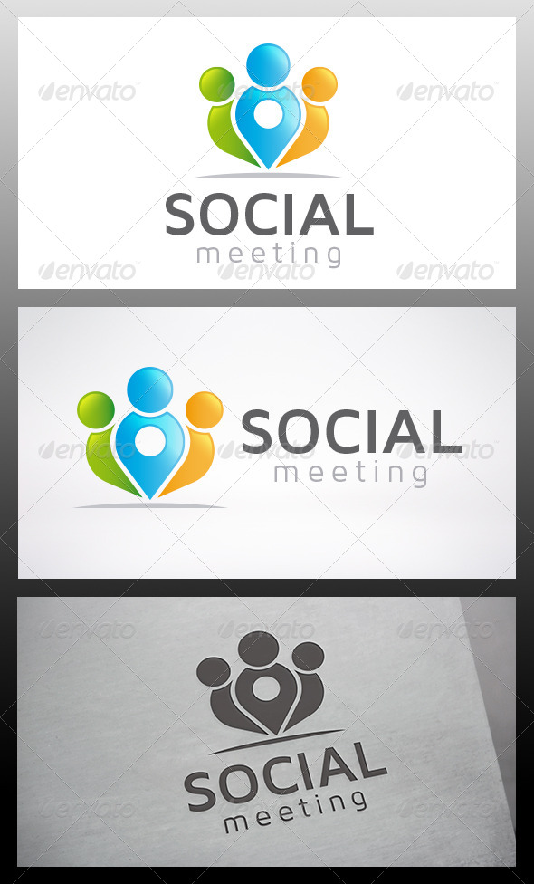Social Locator Logo - Humans Logo Templates