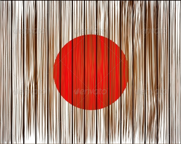 Vector Grunge Japan Flag - Travel Conceptual