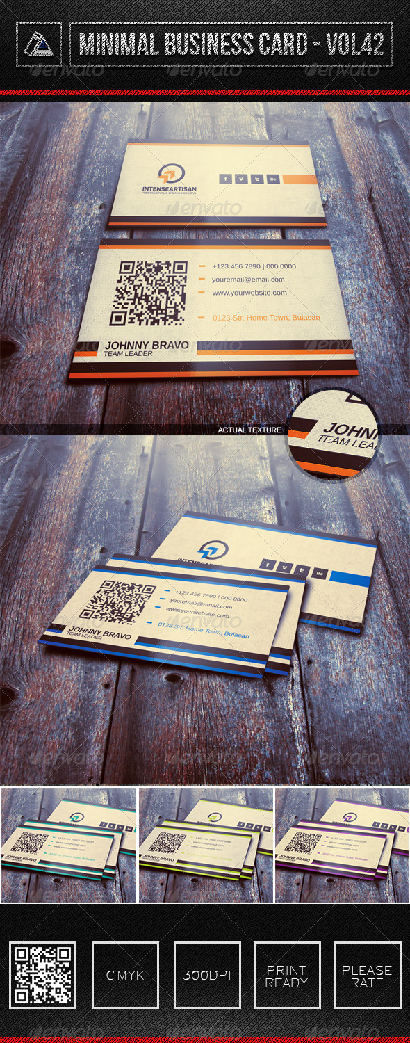 IntenseArtisan Business Card Vol.42 - Creative Business Cards
