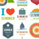 Summer Holiday Badge Vol 3. - GraphicRiver Item for Sale