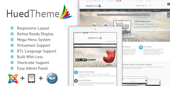 HuedTheme – Responsive Virtuemart Joomla Template