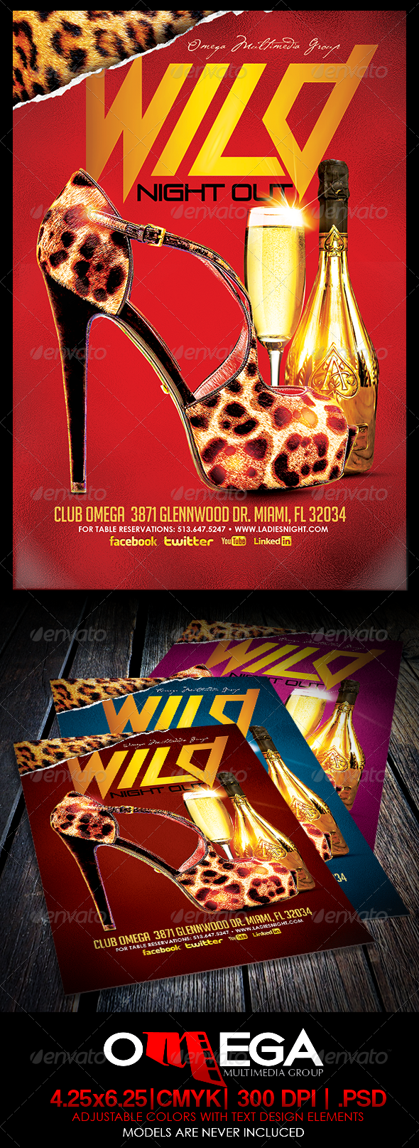 Wild Night Out - Events Flyers