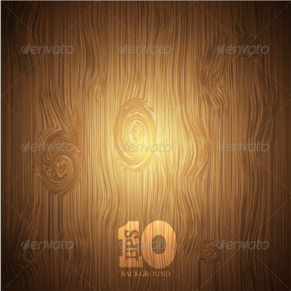Vector Wooden Background - Backgrounds Business