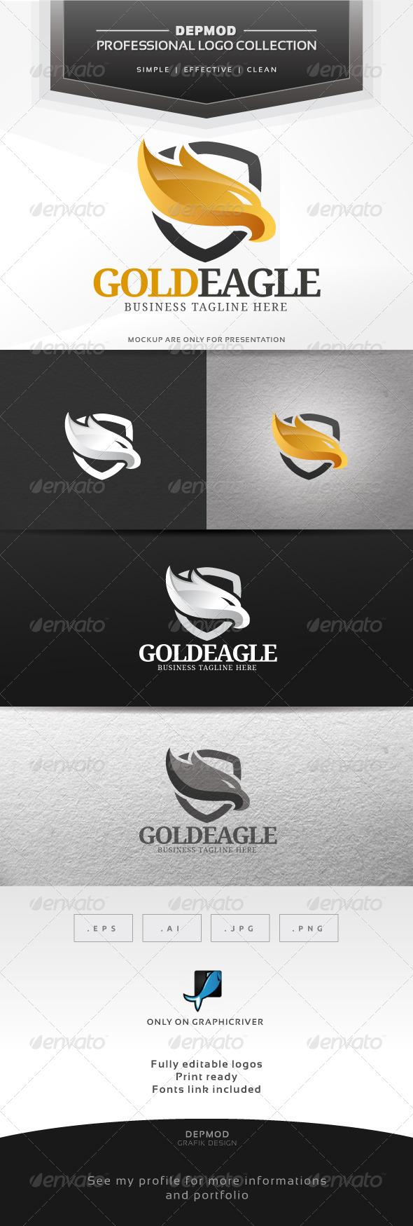 Gold Eagle Logo - Crests Logo Templates