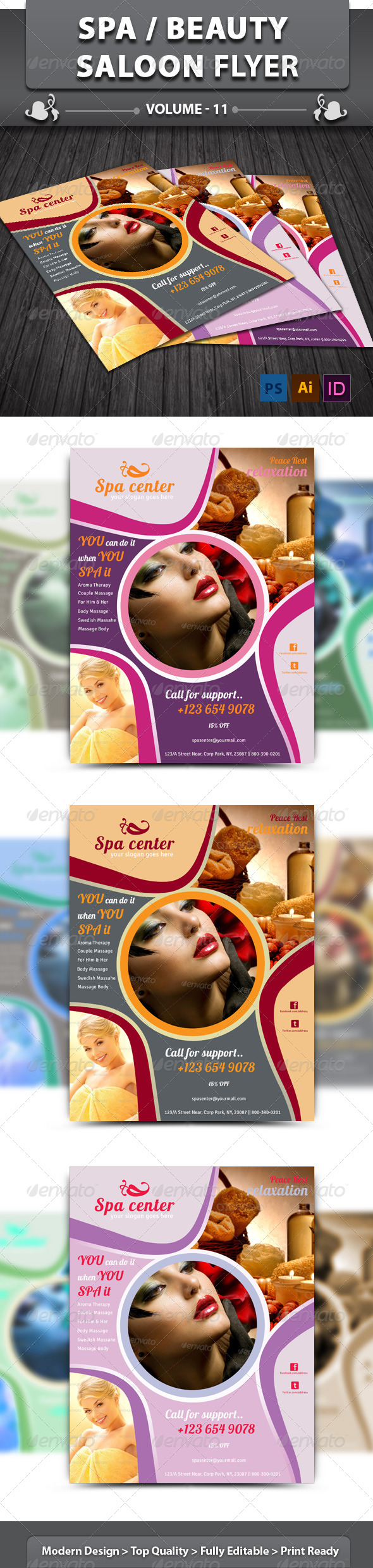 Spa & Beauty Saloon Flyer | Volume 7 - Corporate Flyers