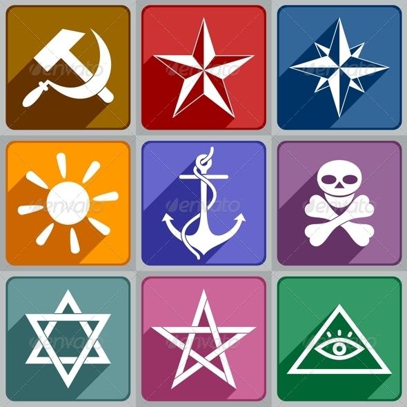 Icons of the Different Symbols - Decorative Symbols Decorative