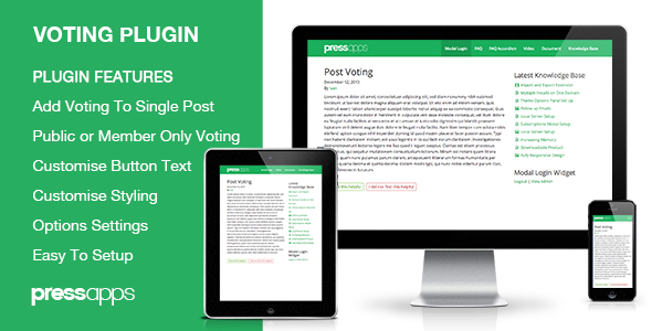 Post Voting WordPress Plugin - CodeCanyon Item for Sale
