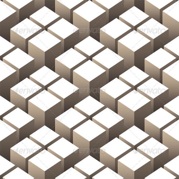 Cubes 3D Seamless Pattern - Patterns Decorative