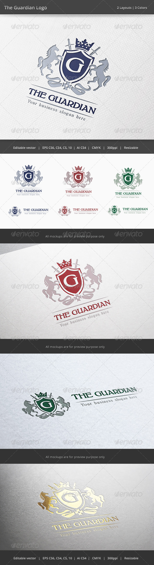 The Guardian Letter Crest Logo - Crests Logo Templates