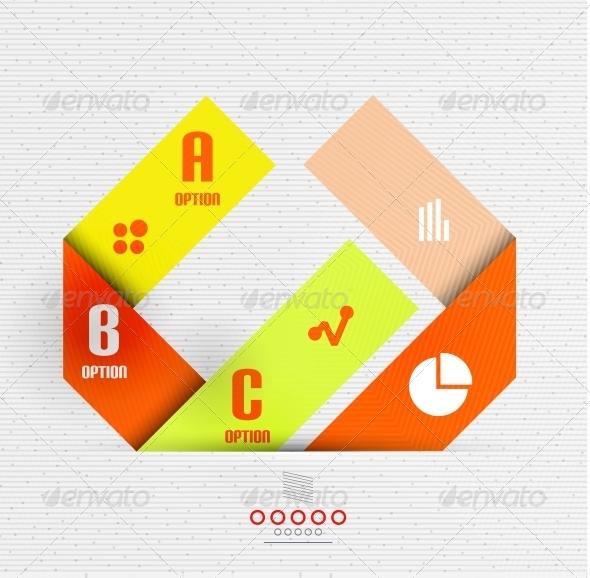 Stripes Option Infographic Design Template - Miscellaneous Vectors