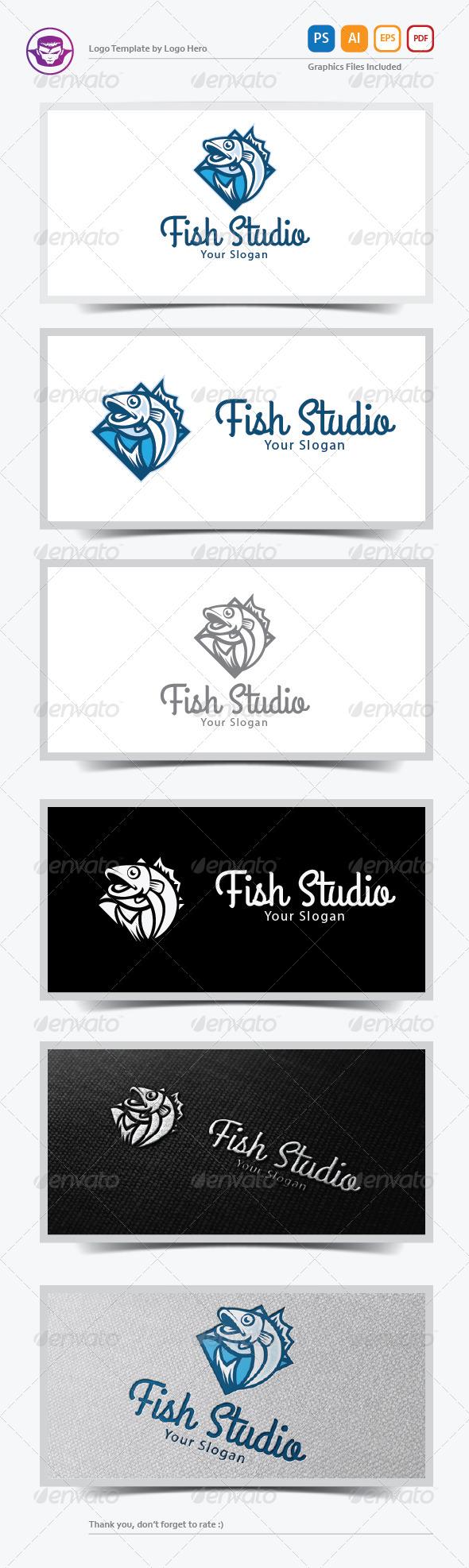 Fish Studio Logo Template - Animals Logo Templates