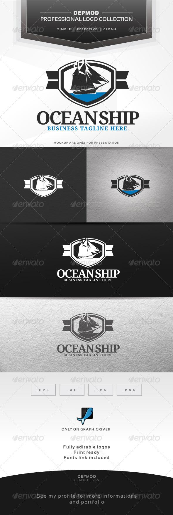 Ocean Ship Logo - Crests Logo Templates
