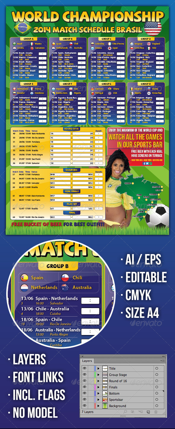 Brazil Match Schedule Championship Soccer 2014 - Sports Events