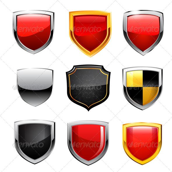 Shield Icon Set - Vectors