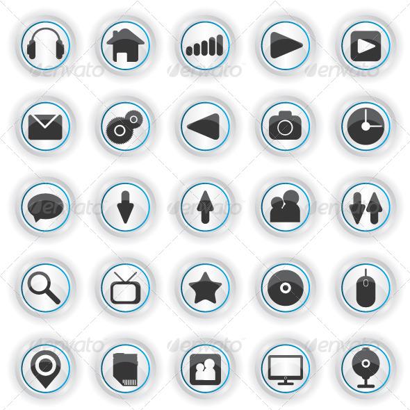 Set of Web Icons - Web Elements Vectors