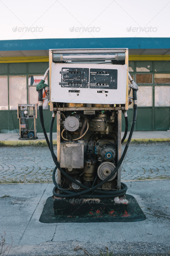 Abandoned gas pump - Stock Photo - Images