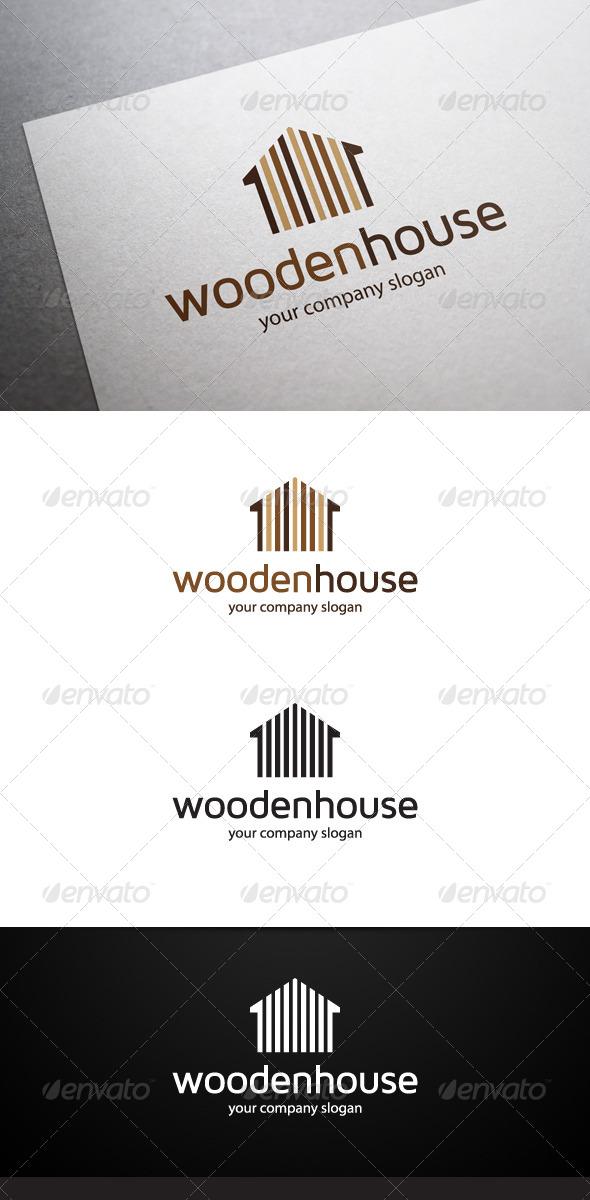 Wooden House Logo - Buildings Logo Templates