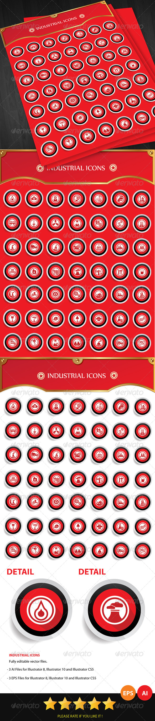 Industrial Icons - Buildings Objects