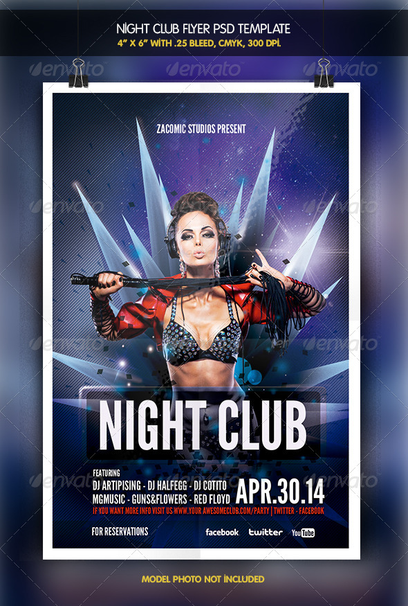 Night Club | Party Flyer - Clubs & Parties Events