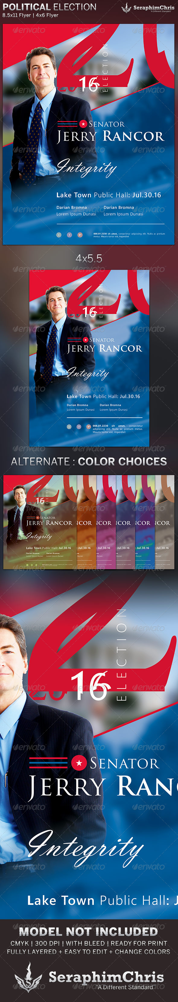 Political Election Flyer Template - Corporate Flyers