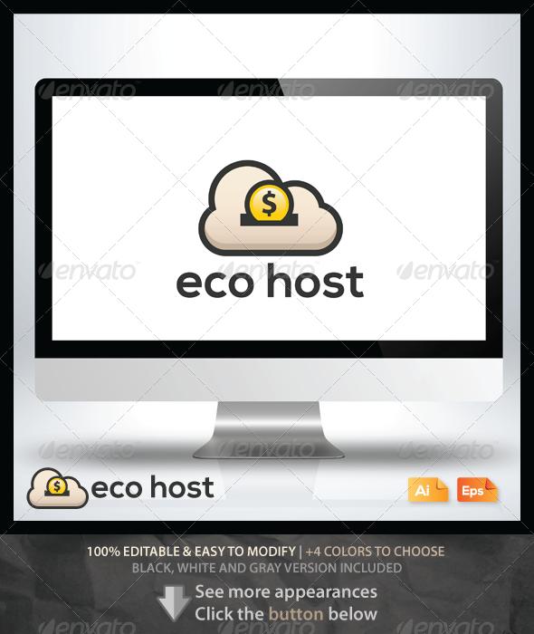 Eco Host - Objects Logo Templates