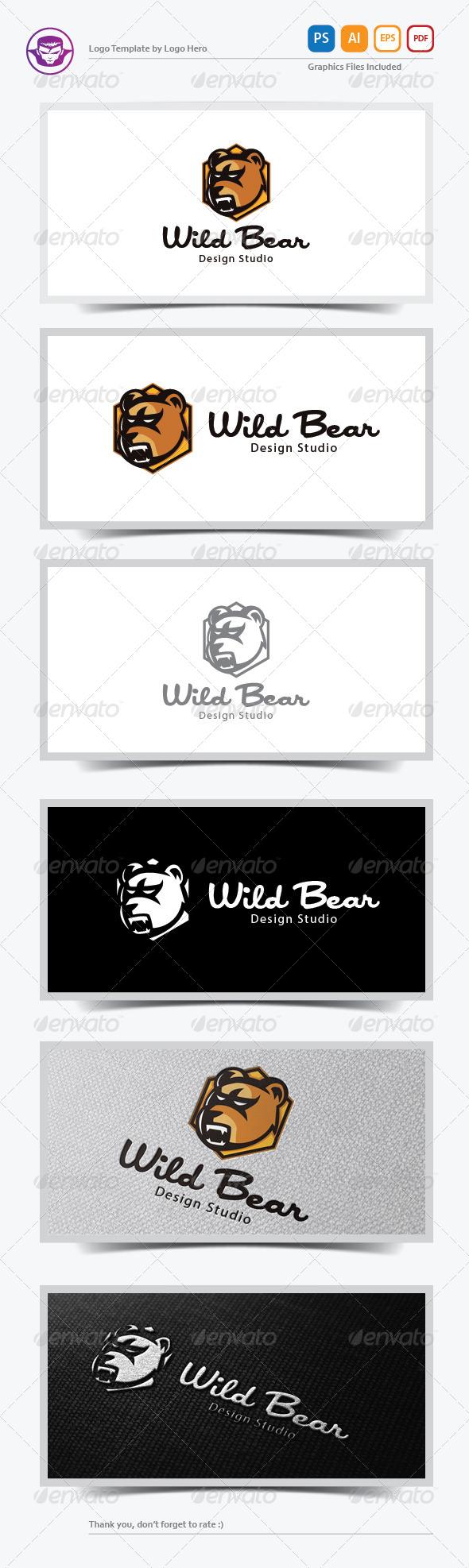 Wild Bear Logo Template - Animals Logo Templates