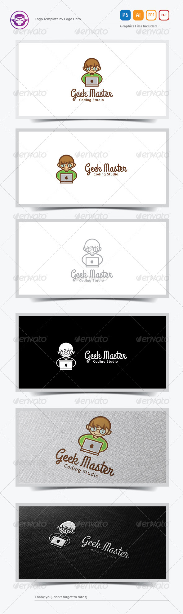 Geek Master Logo Template - Humans Logo Templates