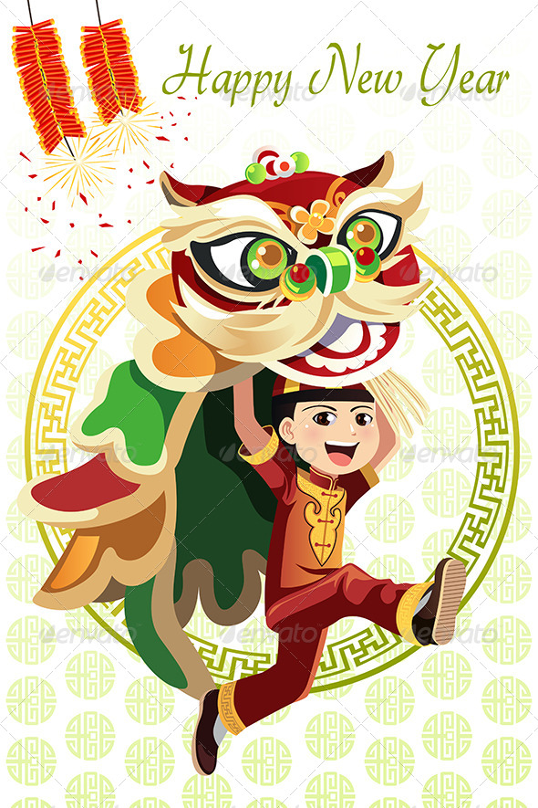 Chinese Lion Dance - Seasons/Holidays Conceptual
