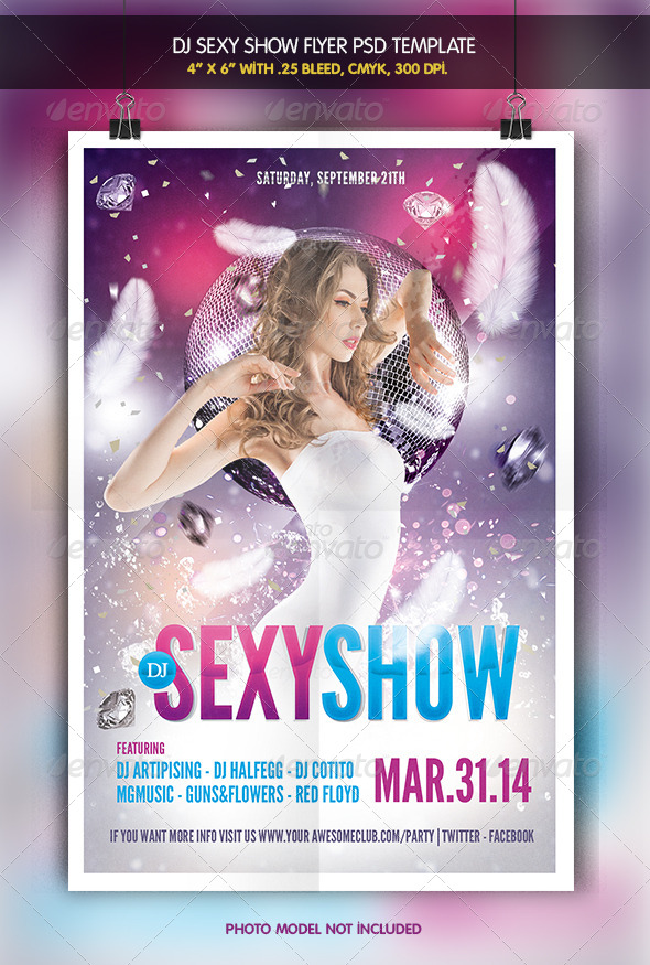 Dj Sexy Show | Party Flyer