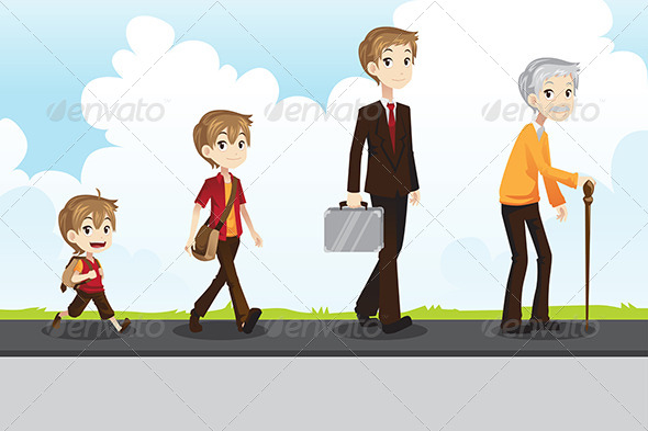 Young to Old - People Characters