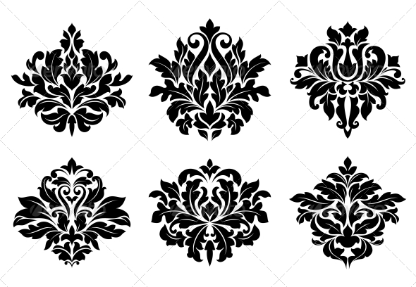 Decorative Floral Elements and Embellishments - Patterns Decorative