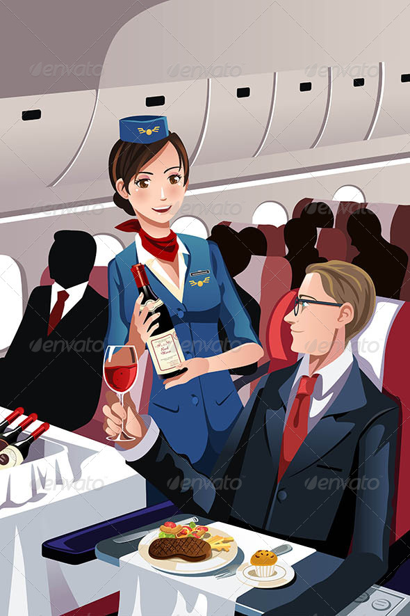 Flight Attendant - Travel Conceptual