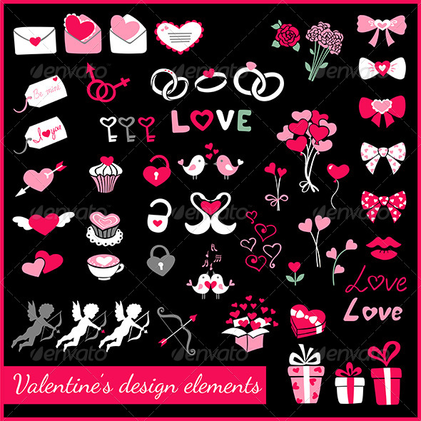 Valentine's Design Elements - Valentines Seasons/Holidays