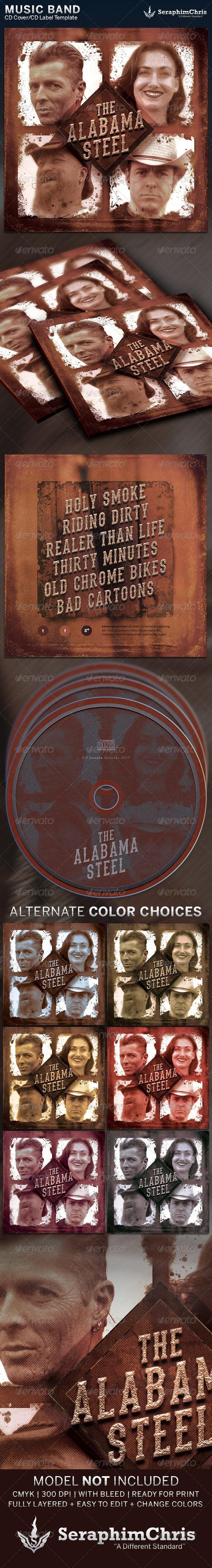 Rustic CD Cover Artwork Template - CD & DVD Artwork Print Templates