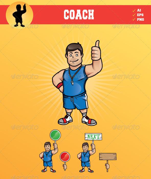 Smiling Coach - Characters Vectors