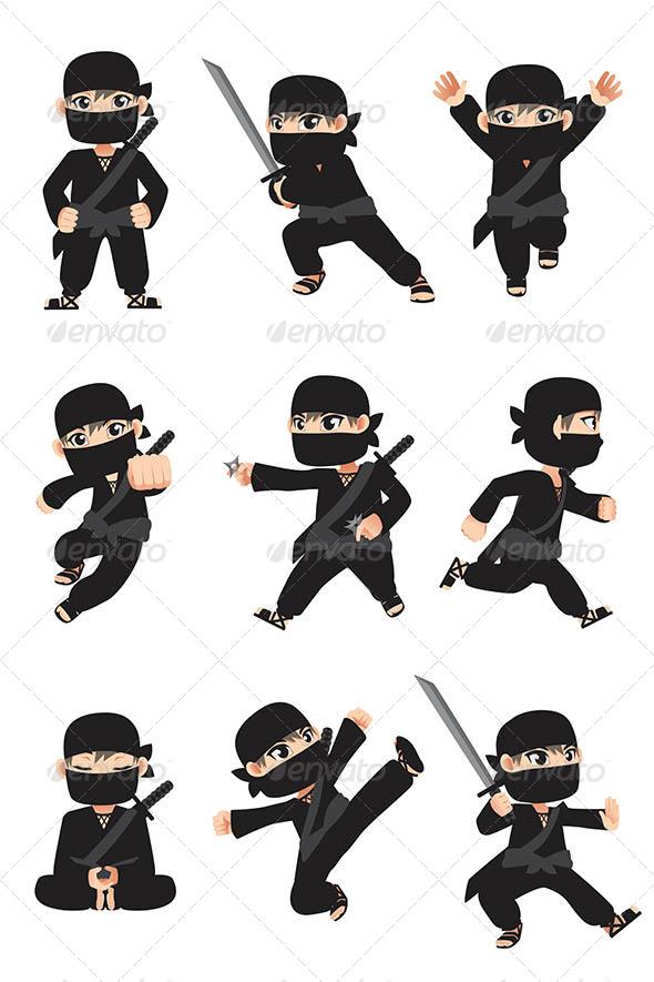 Kid Ninja - People Characters