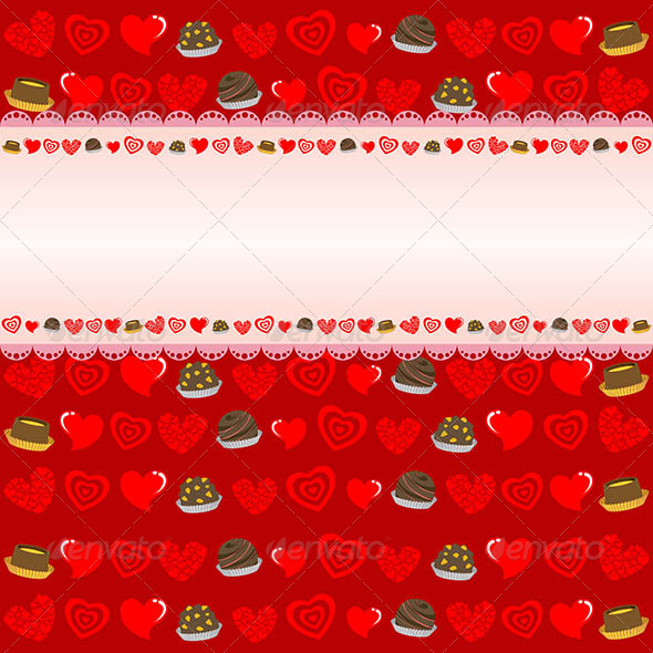 Valentine Day Background - Decorative Vectors