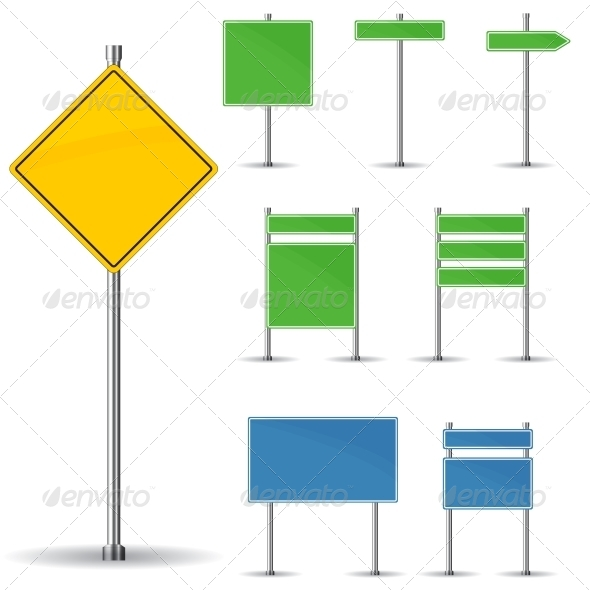 Blank Road Signs - Web Technology