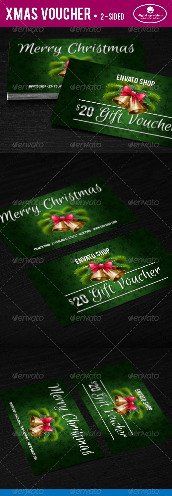 Xmas Gift Voucher - Loyalty Cards Cards & Invites
