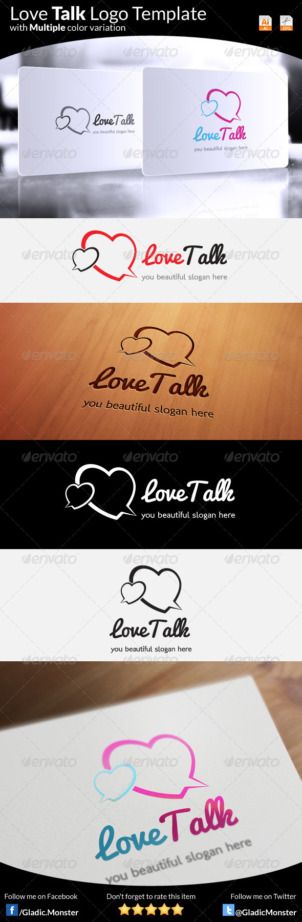 Love Talk Logo - Symbols Logo Templates